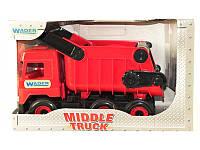 """Детская игрушка машинка WADER """"Самосвал"""" красный в коробке"""