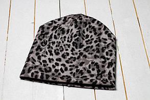 Трикотажная шапка «Черный леопард»