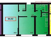 2 комнатная квартира 64,02 метра ЖК «Мальдивы», Одесса