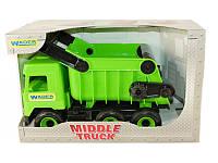 """Детская игрушка машинка WADER """"Самосвал"""" зелёный в коробке"""
