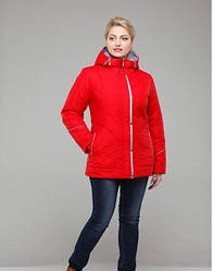Куртка демисезонная женская  красная