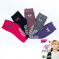 Носки детские махровые для девочки с бамбуковым волокном и узором Роза D3325-5 (12 ед. в упаковке)