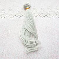 Волосы для кукол легкая волна, светлый пепел - 20 см
