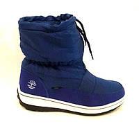 Дутики ботинки Timberland женские зимние на меху синие KF0108 64a91415a1fa8