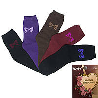 Носки женские махровые с рисунком Бантики Jujube A121-17