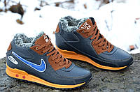 Кроссовки ботинки зимние кожа подростковие Найк Nike реплика Харьков 2016 (Код: 276)