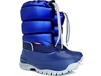 Сапоги зимние детские Demar LUCKY синие Размер:25-35