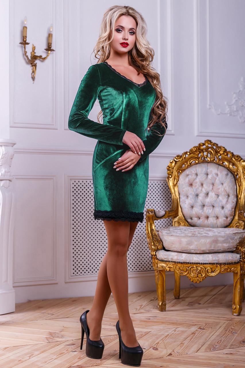 Красивое нарядное женское платье 2443 зеленый