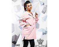 Ledi M Женское пальто с карманами BL 17040 розовый Леди М