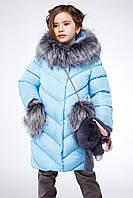 Детская зимняя куртка пуховик для девочки Банни, рост 116 - 158, Украина Nui very