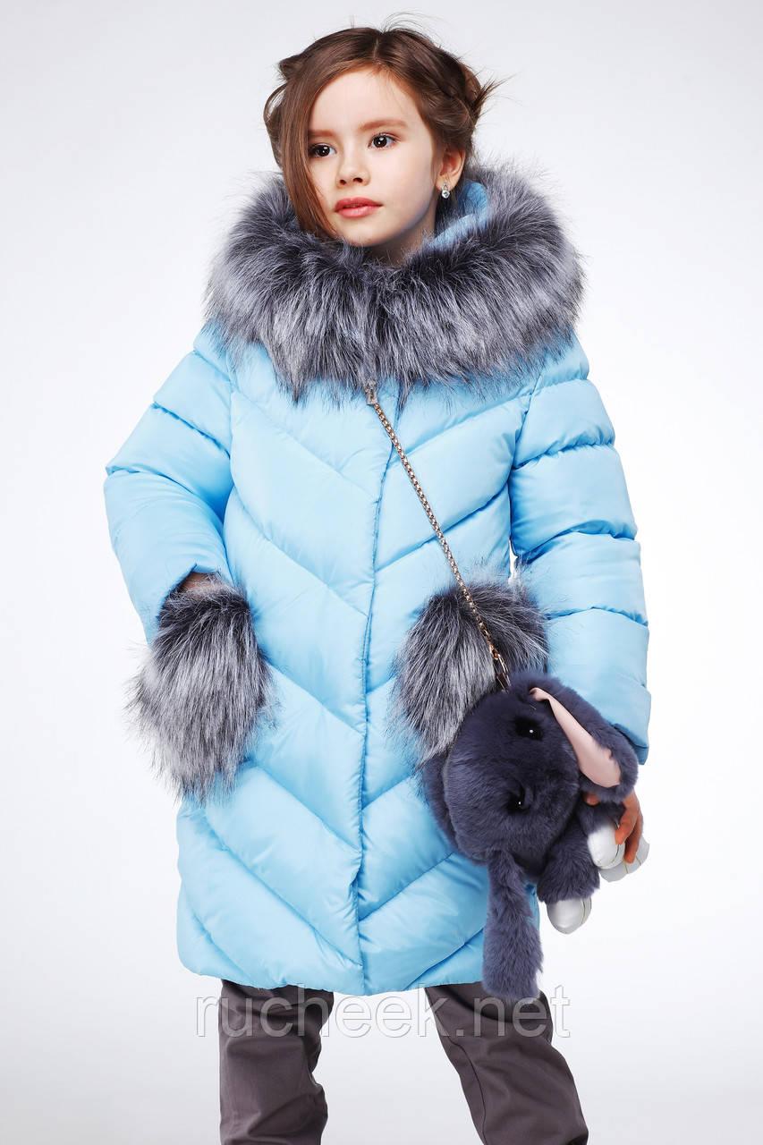 003cf3bc0d9f5 ... Детская зимняя куртка пуховик для девочки Банни, рост 116 - 158,  Украина Nui very ...