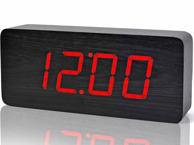 Электронные цифровые часы VST 865 подсветка Red -