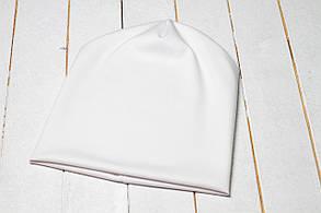 Трикотажная шапка «Белый цвет»