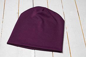Трикотажная шапка «Фиолетовый цвет»
