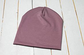 Трикотажная шапка «Сиреневый цвет»