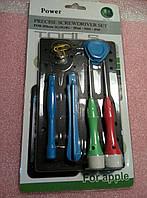 Набор отверток POWER 6011A (2 отвёртки+2 открывачки+2 медиатора+присоска)