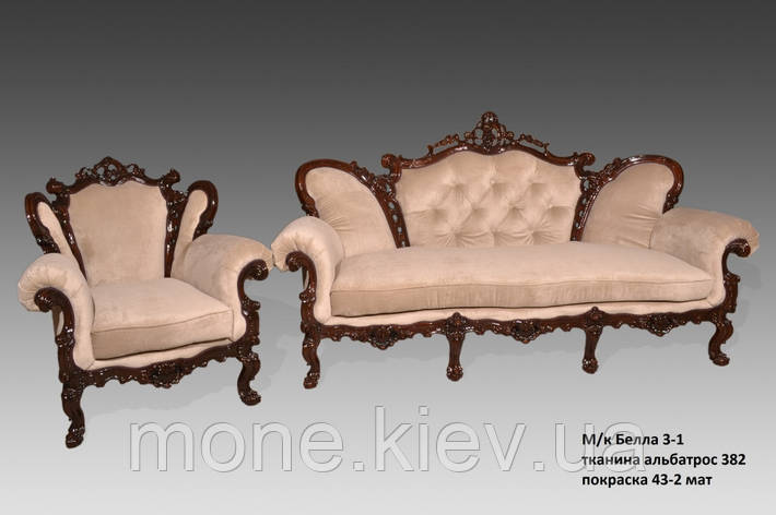 """Кожаный трехместный диван в стиле барокко """"Белла"""" ., фото 2"""