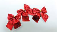 Бантики декоративные красные 3 штуки