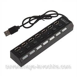USB Hub 7 портов Deluxe DUH4004BK