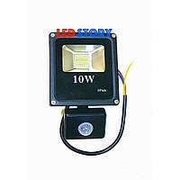 Светодиодный прожектор с датчиком движения 10W PREMIUM