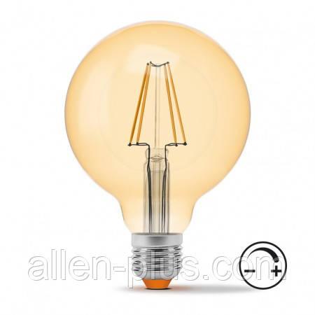 LED лампа VIDEX Filament G95FAD 7W E27 2200K 220V бронза діммерная (гарантія 3 роки)