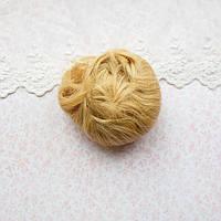Волосы для кукол короткие в трессах светло-русый золотистый - 5 см