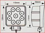 Світлодіодна LED фара світло жовтий 27W 06-27, фото 5