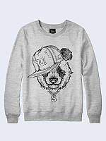 Прикольный свитшот Крутая панда с оригинальным рисунком. Материал: 100% хлопок.