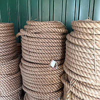 Джутовый канат джут веревка для декоративной отделки d 30 мм