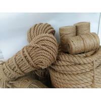 Джутовый канат джут веревка для декоративной отделки d 35 мм