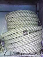 Джутовый канат джут веревка для декоративной отделки d 45 мм