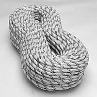 Веревка для промышленного альпинизма статическая капроновая d10мм 40-й клас статика для высотных раб