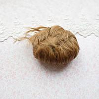 Волосы для кукол короткие в трессах русый - 5 см