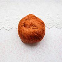 Волосы для кукол короткие в трессах рыжие - 5 см