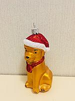 Новогодняя игрушка Собака 11 см