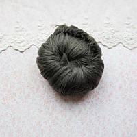 Волосы для кукол короткие в трессах серые, графит - 5 см