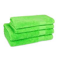 Рушник махровий 400г/м2 зелений 50х90см