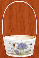 Корзина  для цветов  Прованс 35х23 см
