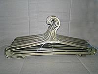 Вешалка плечики для зимней одежды золотистая