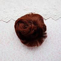 Волосы для кукол короткие в трессах медный - 5 см