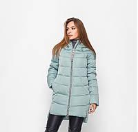 Стеганная зимняя куртка удлиненного фасона.  Разные цвета
