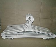 Вешалка плечики для зимней одежды белая