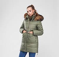 Женская зимняя стеганная куртка удлиненного фасона Разные цвета