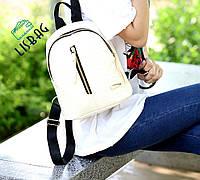 Рюкзак женский мини рюкзак с имитацией под змеиную кожу Слоновая кость