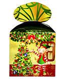 """Новогодняя картонная упаковка для  конфет """"Куб с бантом """" 800 г., фото 8"""