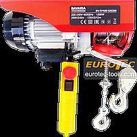 Тельфер 250 кг / 125 кг, 6/12 м Bavaria TP105 электрический тельфер канатная электроталь электрическая лебёдка, фото 1