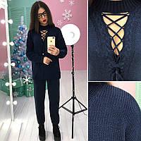 Модный вязаный костюм свитер +брюки , расцветки АМС-1711.124(3)