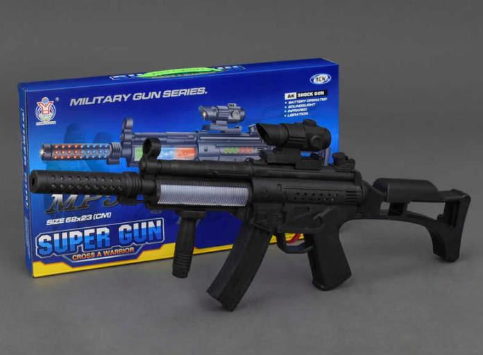 Автомат музыкальный, светящийся,на батарейках.Детское игрушечное оружие.Игрушка оружие.