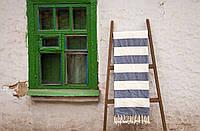 Плед-накидка Barine 135х160 - Deck Throw blue синий