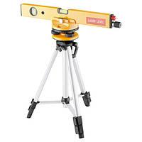 Уровень лазерный 400 мм штатив 1050 мм 3 глазка набор (база, 2 линзы) в пластиковом боксе  MATRIX